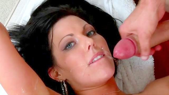 Busty babe Jade rides on dick of Jmac